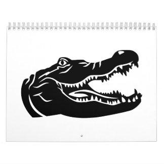 Cabeza del cocodrilo calendarios