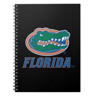 Cabeza del cocodrilo de la Florida a todo color Libretas
