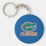 Cabeza del cocodrilo de la Florida a todo color Llavero Redondo Tipo Pin
