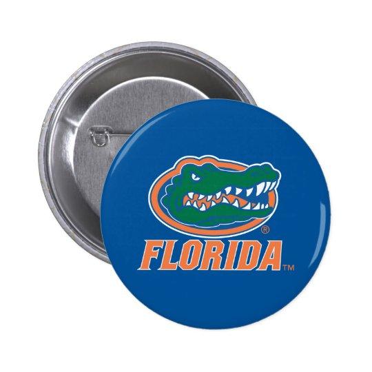 Cabeza del cocodrilo de la Florida a todo color Pin Redondo De 2 Pulgadas