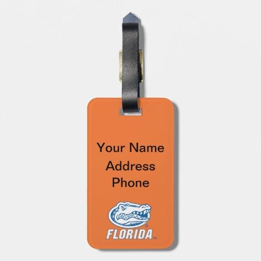 Cabeza del cocodrilo de la Florida - azul y blanco Etiquetas Bolsa