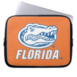 Cabeza del cocodrilo de la Florida - azul y blanco Fundas Portátiles