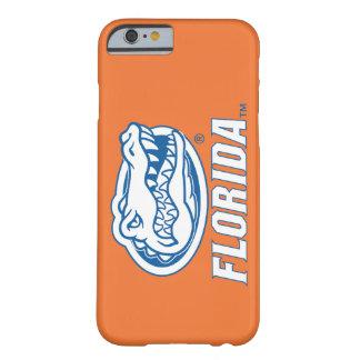 Cabeza del cocodrilo de la Florida - azul y blanco Funda Para iPhone 6 Barely There
