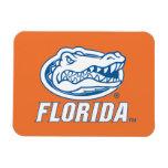 Cabeza del cocodrilo de la Florida - azul y blanco Imán Flexible