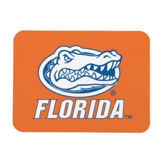 Cabeza del cocodrilo de la Florida - azul y blanco Rectangle Magnet