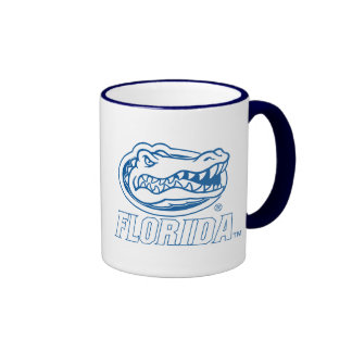 Cabeza del cocodrilo de la Florida - azul y blanco Taza A Dos Colores