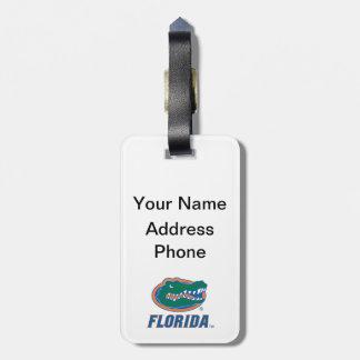 Cabeza del cocodrilo de la Florida - color Etiqueta Para Equipaje