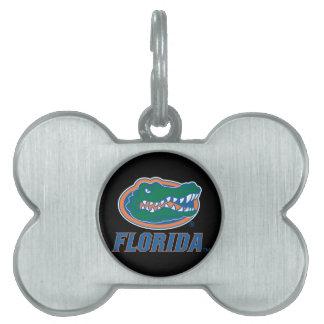 Cabeza del cocodrilo de la Florida - color Placa De Nombre De Mascota