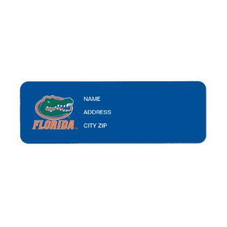 Cabeza del cocodrilo de la Florida Etiqueta De Remite