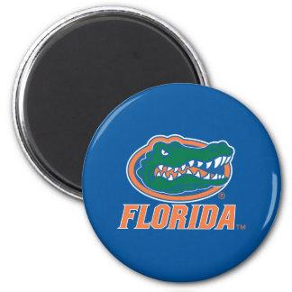 Cabeza del cocodrilo de la Florida Imán Redondo 5 Cm
