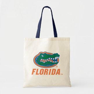 Cabeza del cocodrilo de la Florida - naranja y bla Bolsa De Mano