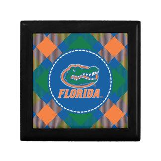 Cabeza del cocodrilo de la Florida - naranja y bla Caja De Joyas