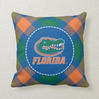 Cabeza del cocodrilo de la Florida - naranja y bla Almohada