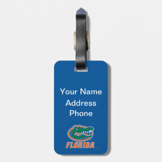 Cabeza del cocodrilo de la Florida - naranja y bla Etiquetas Para Maletas