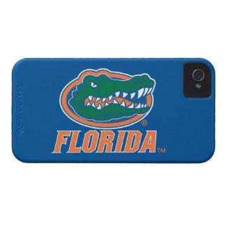 Cabeza del cocodrilo de la Florida - naranja y bla iPhone 4 Cárcasa
