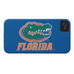Cabeza del cocodrilo de la Florida - naranja y bla iPhone 4 Case-Mate Carcasa