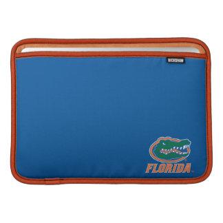 Cabeza del cocodrilo de la Florida - naranja y bla Funda Para Macbook Air