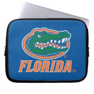 Cabeza del cocodrilo de la Florida - naranja y bla Funda Computadora