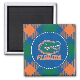 Cabeza del cocodrilo de la Florida - naranja y bla Iman Para Frigorífico