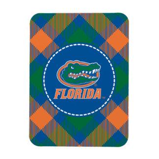 Cabeza del cocodrilo de la Florida - naranja y bla Imanes