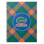 Cabeza del cocodrilo de la Florida - naranja y bla Libro De Apuntes Con Espiral