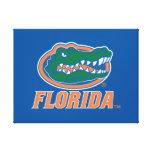 Cabeza del cocodrilo de la Florida - naranja y bla Lona Envuelta Para Galerias