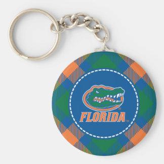 Cabeza del cocodrilo de la Florida - naranja y bla Llavero Personalizado