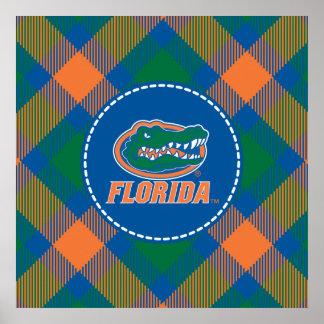 Cabeza del cocodrilo de la Florida - naranja y bla Impresiones