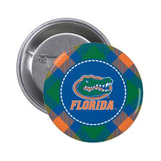 Cabeza del cocodrilo de la Florida - naranja y bla Pin
