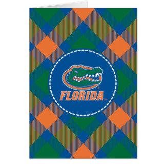 Cabeza del cocodrilo de la Florida - naranja y bla Felicitaciones