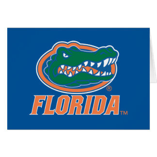 Cabeza del cocodrilo de la Florida - naranja y bla Tarjeton