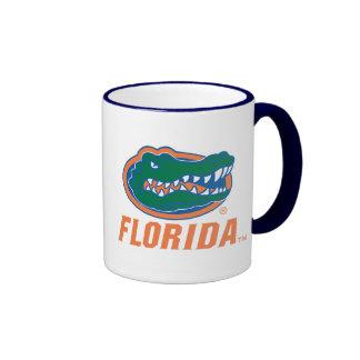 Cabeza del cocodrilo de la Florida - naranja y bla Tazas De Café