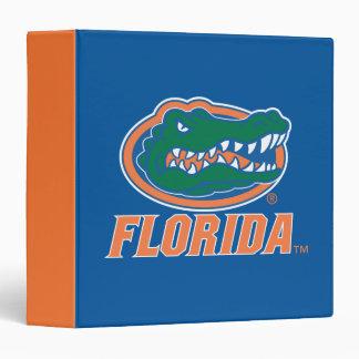 """Cabeza del cocodrilo de la Florida - naranja y Carpeta 1 1/2"""""""