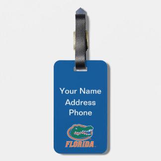 Cabeza del cocodrilo de la Florida - naranja y Etiquetas Maleta