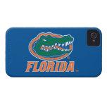 Cabeza del cocodrilo de la Florida - naranja y Case-Mate iPhone 4 Cárcasas
