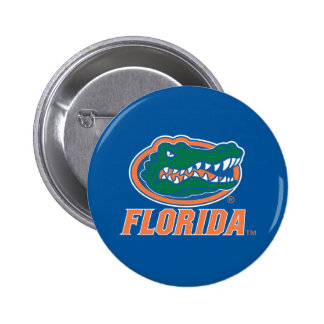 Cabeza del cocodrilo de la Florida - naranja y Pin Redondo 5 Cm