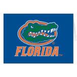 Cabeza del cocodrilo de la Florida - naranja y Tarjeta De Felicitación