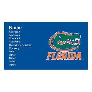 Cabeza del cocodrilo de la Florida - naranja y Tarjetas De Visita