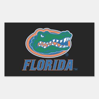 Cabeza del cocodrilo de la Florida Pegatina Rectangular