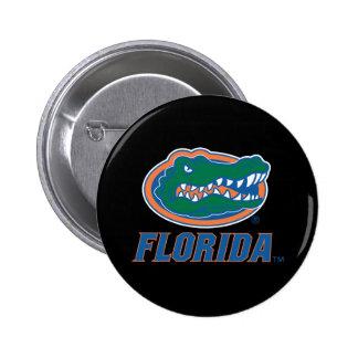 Cabeza del cocodrilo de la Florida Pin Redondo De 2 Pulgadas