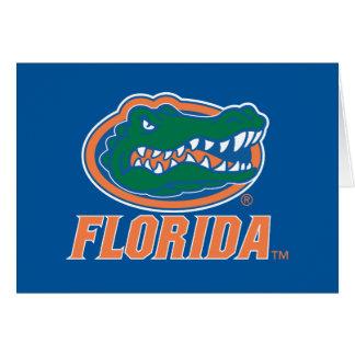 Cabeza del cocodrilo de la Florida Tarjeta De Felicitación