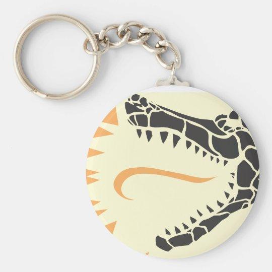 Cabeza del cocodrilo llavero redondo tipo pin