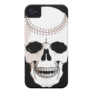 cabeza del cráneo del béisbol Case-Mate iPhone 4 protectores