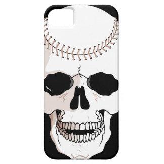 cabeza del cráneo del béisbol iPhone 5 funda