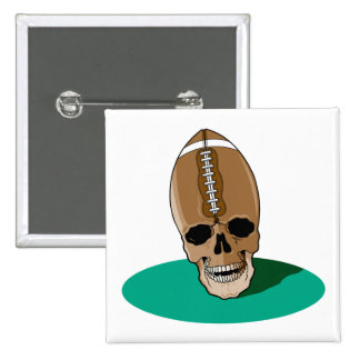cabeza del cráneo del fútbol pins