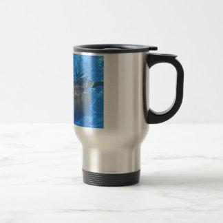 Cabeza del delfín de bottlenose taza de viaje