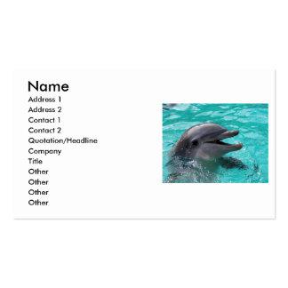Cabeza del delfín en agua del aquamarine tarjetas de visita