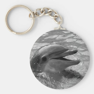 Cabeza del delfín en blanco y negro abierto de la  llavero personalizado