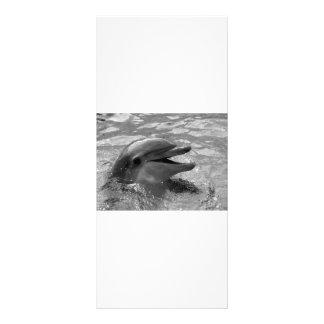Cabeza del delfín en blanco y negro abierto de la  lona personalizada