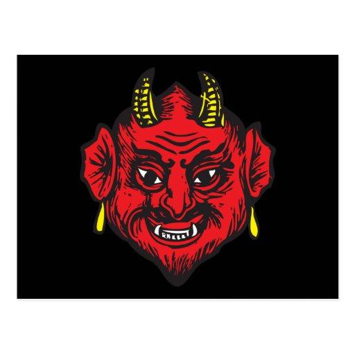 Cabeza del diablo (rojos y amarillos brillantes) postales